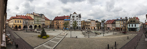 Main Square in Bielsko-Biala Royalty Free Stock Photography