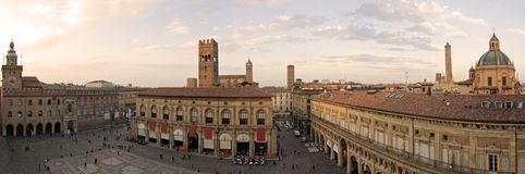 Main square - bologna. A panoramic view of main square - bologna, italy royalty free stock images