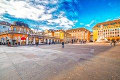 Main square in Bolzano royalty free stock photo