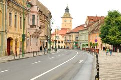 Main square in Brasov, Romania Stock Photos