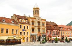 Main square in Brasov, Romania Royalty Free Stock Photography