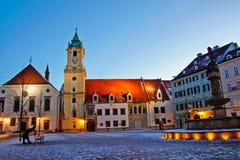 Main square in Bratislava Stock Images