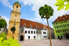 Main square in bratislava Stock Photography