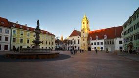 Main square in Bratislava. Royalty Free Stock Image