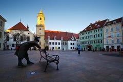 Main square in Bratislava. Stock Photography