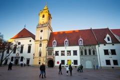 Main square in Bratislava. Stock Image