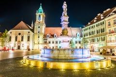 Main square of Bratislava, Slovakia Stock Image