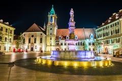 Main square of Bratislava, Slovakia Stock Photo