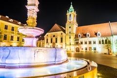 Main square of Bratislava, Slovakia Royalty Free Stock Photography