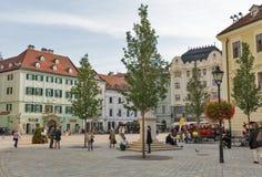 Main square in Bratislava, Slovakia. Stock Photo