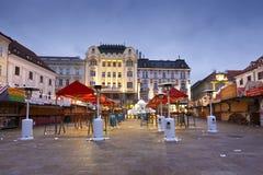 Main square in Bratislava. Stock Photos