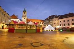 Main square in Bratislava. Royalty Free Stock Photo