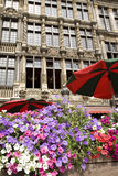 Main Square, Brussels. Grand Place Square in Flower, Brussels, Belgium, Europe Stock Image