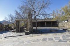 Main square of Campillo de Ranas Stock Images