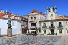 Main square in Cascais Stock Photos