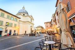 Main square in Castel Gandolfo, pope's summer residency Royalty Free Stock Photos