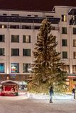 Centre of Rovaniemi in Lapland, Finland stock photo