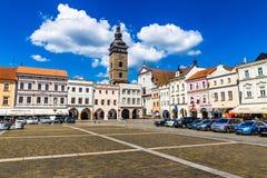Main square in Ceske Budejovice-Czech Republic Stock Photos
