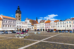 Main square in Ceske Budejovice-Czech Republic Royalty Free Stock Photo
