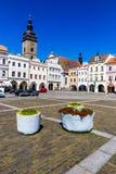 Main square in Ceske Budejovice-Czech Republic Stock Photography