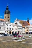 Main square in Ceske Budejovice-Czech Republic Royalty Free Stock Image
