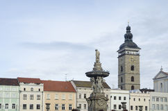 Main square of Ceske Budejovice town Stock Photo