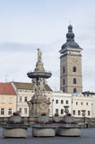Main square of Ceske Budejovice town Stock Photos