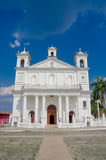 Main square church, Suchitoto town in El Salvador Stock Photography