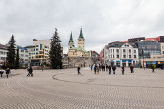 Main square in the city centre of Zilina Royalty Free Stock Photos