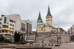 Main square in the city centre of Zilina Royalty Free Stock Photo