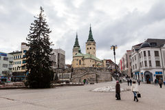 Main square in the city centre of Zilina Royalty Free Stock Photography