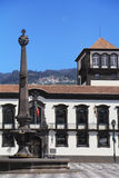 The main square in the city of Funchal Stock Images