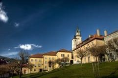 The main square of city Kremnica, Slovakia Royalty Free Stock Photo