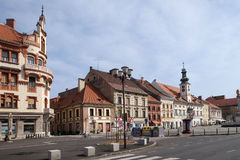 Main Square of the city of Maribor in Slovenia Royalty Free Stock Photo
