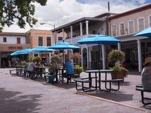 Main square in the City of Santa Fe In New Mexico Stock Image