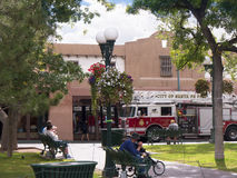 Main square in the City of Santa Fe In New Mexico Royalty Free Stock Photography