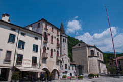 Main square in the city of Vittorio Veneto Royalty Free Stock Images
