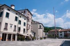 Main square in the city of Vittorio Veneto Stock Photos