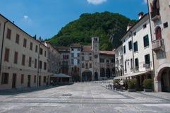 Main square in the city of Vittorio Veneto Stock Image