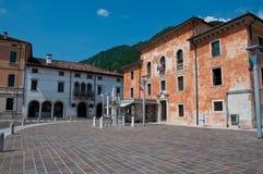 Main square in the city of Vittorio Veneto Stock Images
