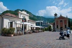 Main square in the city of Vittorio Veneto Stock Photo