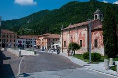 Main square in the city of Vittorio Veneto Stock Photography