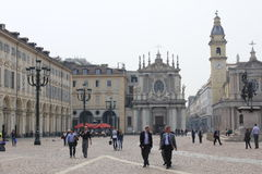 Main square in the citycenter of Torino Stock Photography