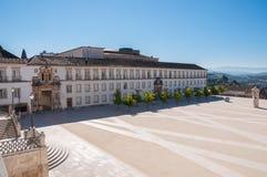 Main square of Coimbra University Stock Photo