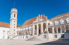 Main square of Coimbra University Stock Image