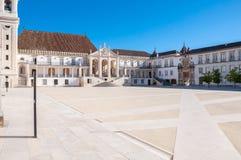 Main square of Coimbra University Royalty Free Stock Photography