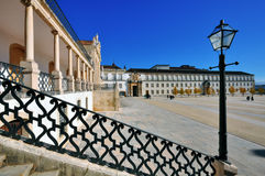 Main square of Coimbra university Royalty Free Stock Photo
