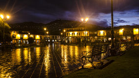 Main square of Cusco stock photography