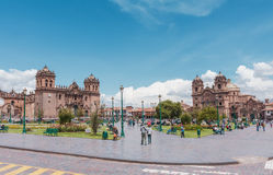 The Main Square of Cuzco - Plaza de Armas, Peru. Stock Photography