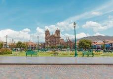 The Main Square of Cuzco - Plaza de Armas, Peru. Stock Images